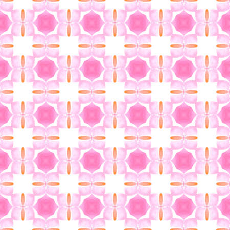 Textile ready stunning print, swimwear fabric, wallpaper, wrapping.  Orange graceful boho chic summer design. Oriental arabesque hand drawn border. Arabesque hand drawn design.