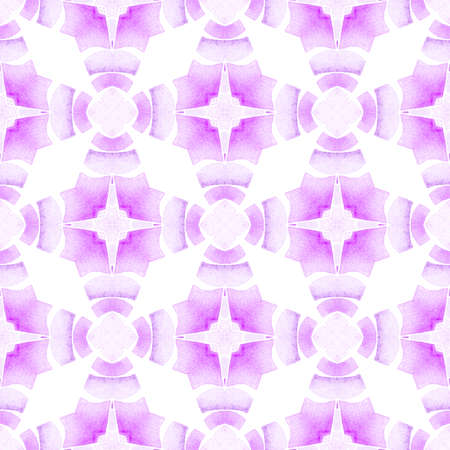 Organic tile. Purple rare boho chic summer design. Textile ready captivating print, swimwear fabric, wallpaper, wrapping.  Trendy organic green border.