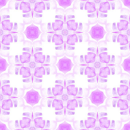 Textile ready unequaled print, swimwear fabric, wallpaper, wrapping.  Purple extra boho chic summer design. Organic tile. Trendy organic green border.