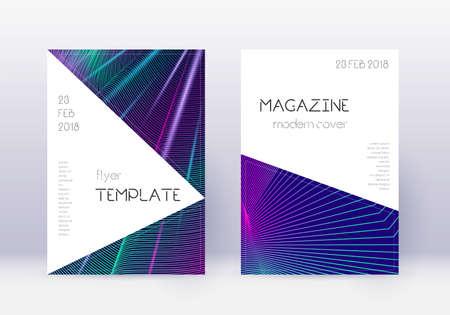 Triangle cover design template set.