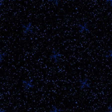Hand Drawn blue Snowflakes Christmas Seamless Pattern. Subtle Flying Snow Flakes on dark blue Background. Classy chalk handdrawn snow overlay. Posh holiday season decoration.