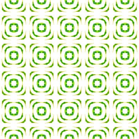 summer ethnic border pattern. Green superb boho chic summer design. Ethnic hand painted  pattern. Textile ready imaginative print, swimwear fabric, wallpaper, wrapping.