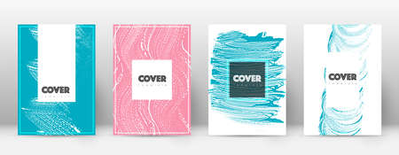 Cover page design template. Hipster brochure layout. Brilliant trendy abstract cover page. Pink and blue grunge texture background. Worthy poster.