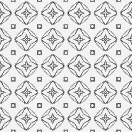 Organic tile. Black and white likable boho chic summer design. Textile ready stylish print, swimwear fabric, wallpaper, wrapping.  Trendy organic green border.