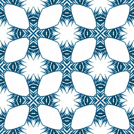 Green geometric chevron watercolor border. Blue imaginative boho chic summer design. Chevron watercolor pattern. Textile ready beautiful print, swimwear fabric, wallpaper, wrapping.