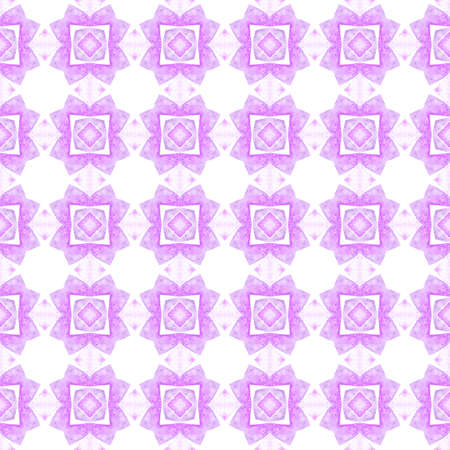 Tiled  watercolor background. Purple marvelous boho chic summer design. Textile ready unequaled print, swimwear fabric, wallpaper, wrapping.  Hand painted tiled watercolor border. 版權商用圖片