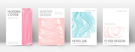 Cover page design template. Minimal brochure layout. Captivating trendy abstract cover page. Pink and blue grunge texture background. Sublime poster. Çizim
