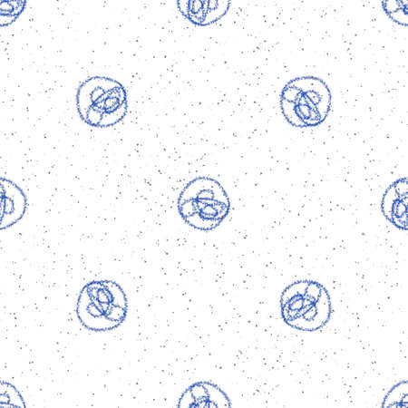 Hand Drawn blue Snowflakes Christmas Seamless Pattern. Subtle Flying Snow Flakes on white Background. Creative chalk handdrawn snow overlay. Mesmeric holiday season decoration.