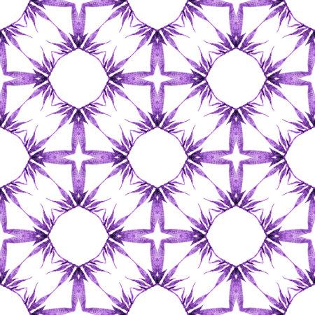 Textile ready terrific print, swimwear fabric, wallpaper, wrapping. Purple nice boho chic summer design. Repeating striped hand drawn border. Striped hand drawn design.