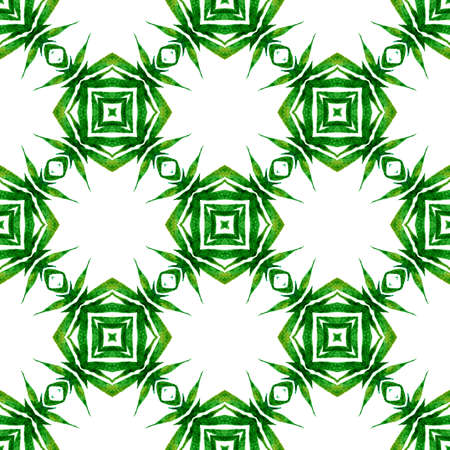 Textile ready indelible print, swimwear fabric, wallpaper, wrapping. Green exceptional boho chic summer design. Tropical seamless pattern. Hand drawn tropical seamless border.