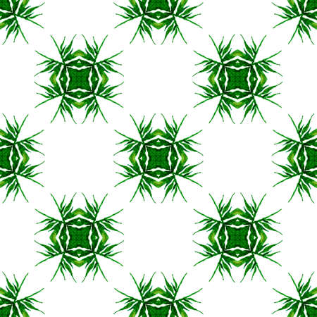 Textile ready fine print, swimwear fabric, wallpaper, wrapping. Green noteworthy boho chic summer design. Summer exotic seamless border. Exotic seamless pattern. Stok Fotoğraf