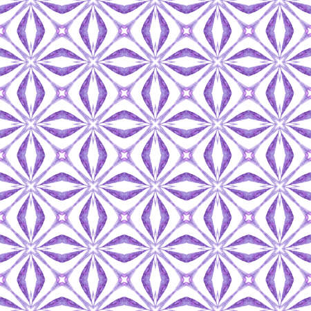 Trendy organic green border. Purple admirable boho chic summer design. Organic tile. Textile ready shapely print, swimwear fabric, wallpaper, wrapping.