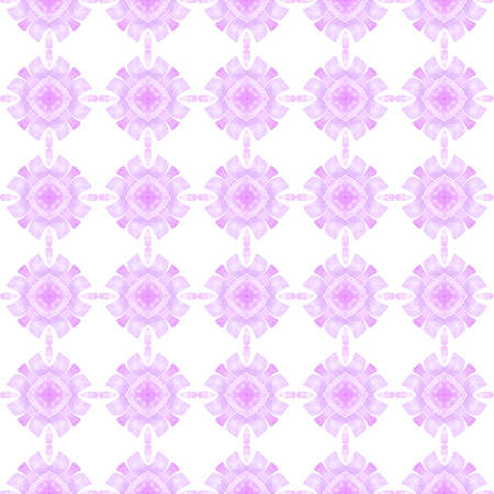 Hand drawn tropical seamless border. Purple fresh boho chic summer design. Tropical seamless pattern. Textile ready remarkable print, swimwear fabric, wallpaper, wrapping.