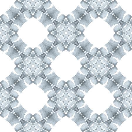 Green geometric chevron watercolor border. Black and white brilliant boho chic summer design. Textile ready dazzling print, swimwear fabric, wallpaper, wrapping.  Chevron watercolor pattern. 版權商用圖片