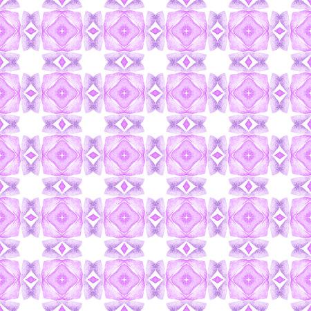 Chevron watercolor pattern. Purple marvelous boho chic summer design. Textile ready fabulous print, swimwear fabric, wallpaper, wrapping.  Green geometric chevron watercolor border. 版權商用圖片