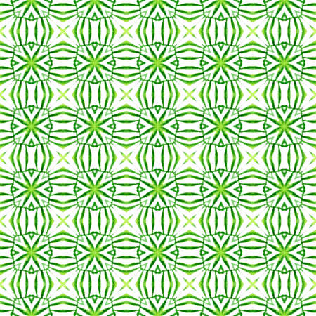 Trendy organic green border. Green bold boho chic summer design. Textile ready alive print, swimwear fabric, wallpaper, wrapping.  Organic tile.
