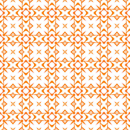 Striped hand drawn design. Orange interesting boho chic summer design. Repeating striped hand drawn border. Textile ready energetic print, swimwear fabric, wallpaper, wrapping.