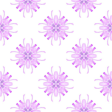 Textile ready delicate print, swimwear fabric, wallpaper, wrapping.  Purple exquisite boho chic summer design. Hand drawn tropical seamless border.  Tropical seamless pattern.