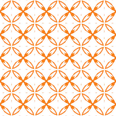 Summer exotic seamless border. Orange precious boho chic summer design. Textile ready terrific print, swimwear fabric, wallpaper, wrapping.  Exotic  seamless pattern.