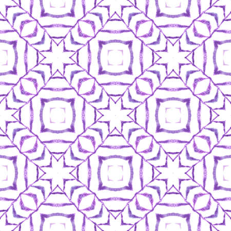 Textile ready nice print, swimwear fabric, wallpaper, wrapping.  Purple glamorous boho chic summer design. Mosaic seamless pattern. Hand drawn green mosaic seamless border.