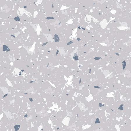 Terrazzo seamless pattern. Gentle classic flooring texture. Classic background made of natural stones, granite, quartz, marble, and concrete. Trending seamless terrazzo.