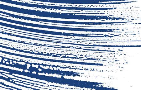 Grunge texture. Distress indigo rough trace. Emotional background. Noise dirty grunge texture. Classic artistic surface. Vector illustration. Ilustração