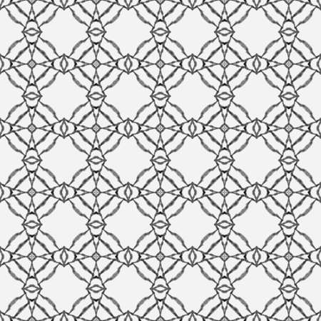 Textile ready delicate print, swimwear fabric, wallpaper, wrapping. Black and white glamorous boho chic summer design. Exotic seamless pattern. Summer exotic seamless border.