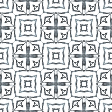 Textile ready magnificent print, swimwear fabric, wallpaper, wrapping. Black and white awesome boho chic summer design. Mosaic seamless pattern. Hand drawn green mosaic seamless border.