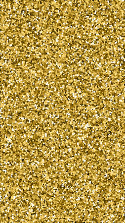 Gold glitter luxury sparkling confetti. Scattered small gold particles on black background. Exceptional festive overlay template. Astonishing vector background.
