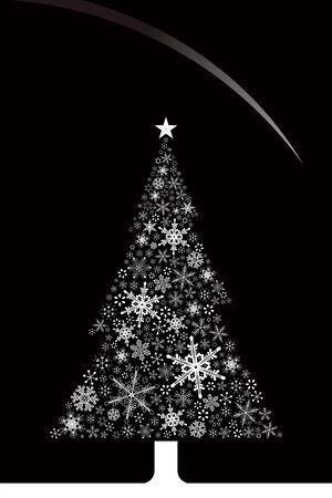 Christmas snowflakes and tree Stock Vector - 8036516