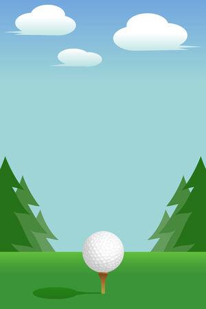 Golf:Tee Vector