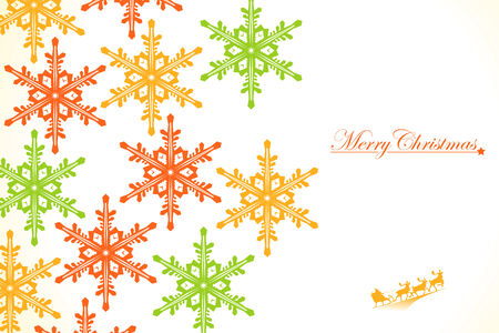 Christmas: Colored Snowflakes Stock Vector - 8217909