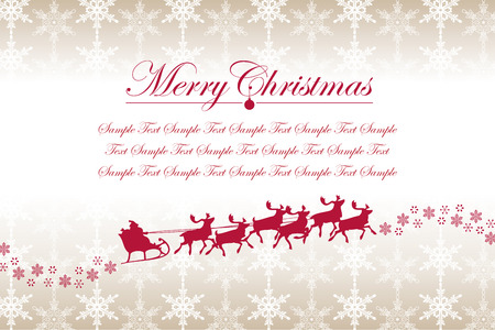 크리스마스 눈송이 및 산타 클로스