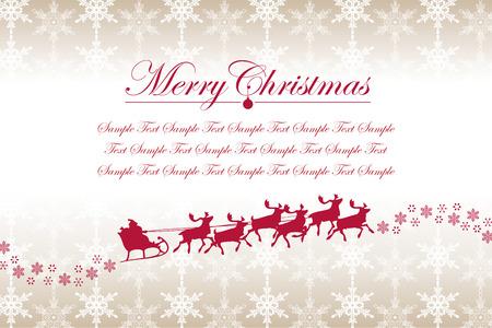 Christmas Snowflakes and Santa Claus Vector