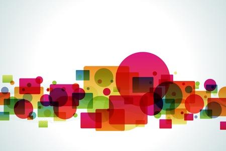 Background Color Bubble and Square Фото со стока