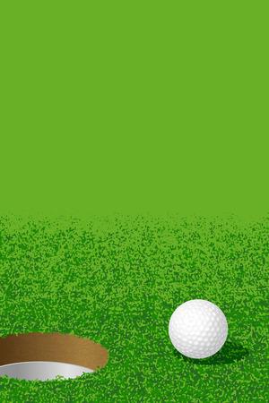 Golf:Ball and Hole Vector