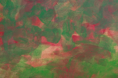 Painting Abstract Green and Red photo