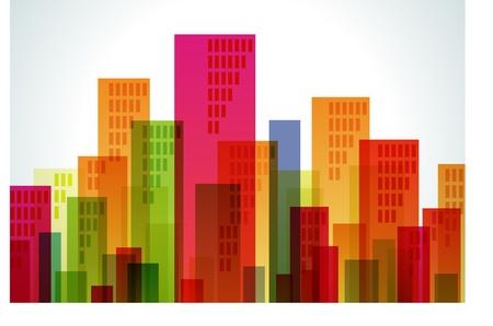 artes plasticas: Edificio de color Vectores