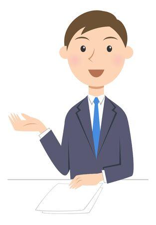 person business talk