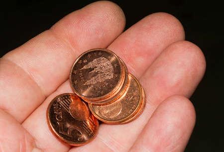 euro coins Stok Fotoğraf