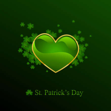 St. Patrick's day background in green colors Stock Vector - 8977977