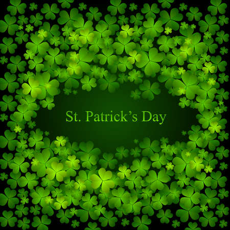 St. Patricks day background in green and black colors