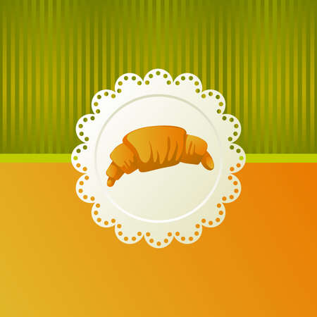 Croissant with chocolate Vector