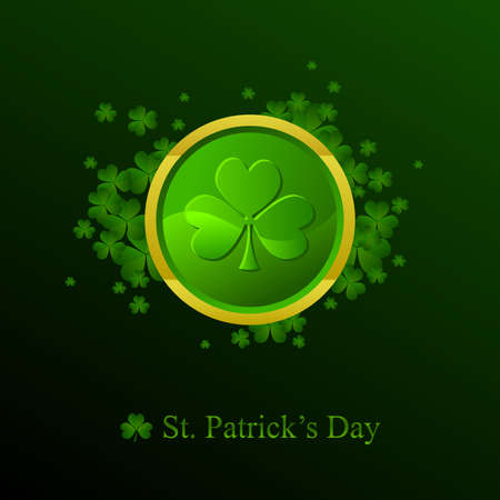 St. Patricks day background in green colors Vector