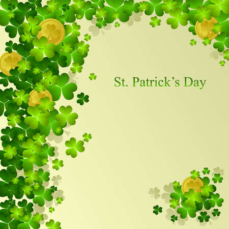 St. Patrick's day background in green colors Stock Vector - 9102064