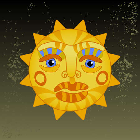 summer solstice: big hot gold sun