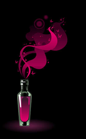flask of magic potion Vector