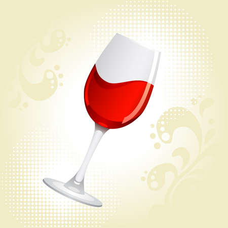 winetasting: Glass of red wine on a white background