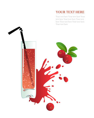 foxberry: Glass of cranberry juice on a white background