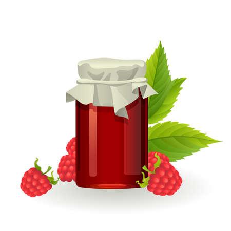 marmalade: Raspberry jam with fresh raspberries